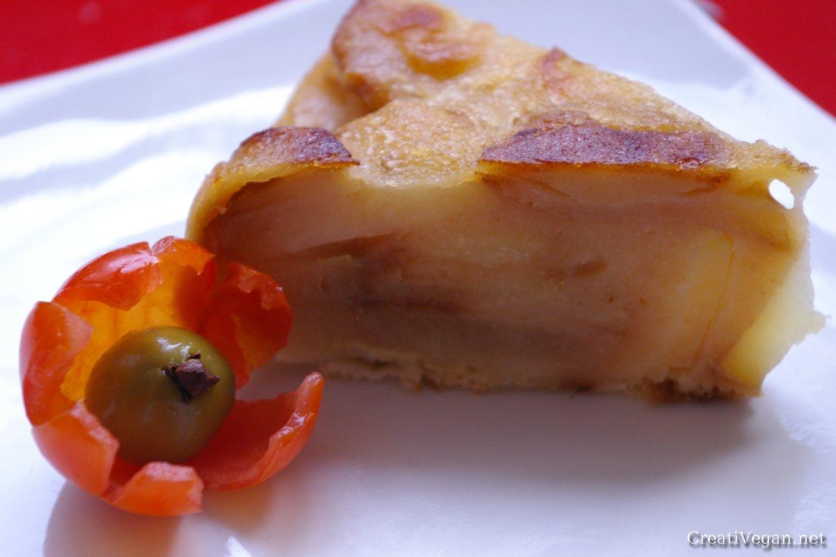 tortilla de patatas vegana (sin huevos)