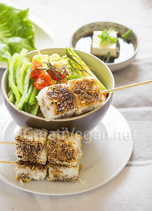 onigiri brown rice yaki onigiri with bacon and avocado pork belly ...