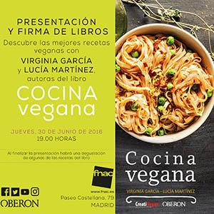 Presentación, firmas y degustación - libro Cocina Vegana